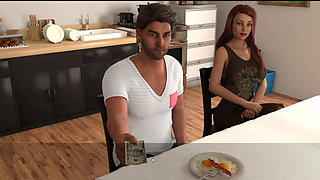 Summer with Mia - she exposed her bare pussy to the old man