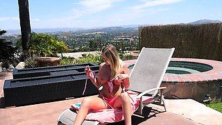 Step Brother Caught Peeping By Step Sister By The Pool