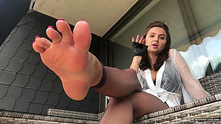 Foot Femdom Smoking Mistress