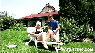 Outdoor facesitting video