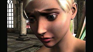 3D Animation. Fairy and Dragon