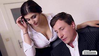 BUMS BUERO - Busty German secretary fucks boss at the office