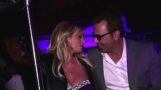 Limousine blowjob from a gorgeous blonde milf babe