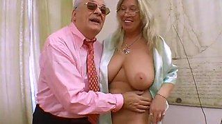 Threesome young older big boobs