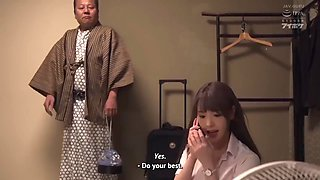 Ipx439 (english subbed) on a business trip to a hot spring resort she has to share a room with the boss she hates and he