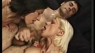 Heavy pierced French Mature group anal sex in stockings
