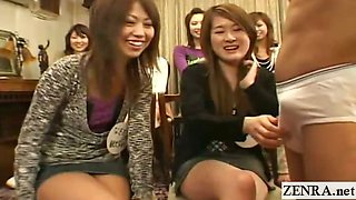 Subtitled CFNM Japanese college student penis research