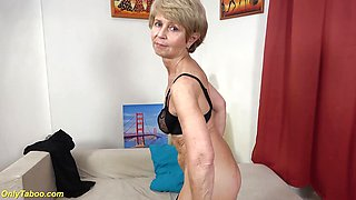 Frisky 75 years old grandma first time on video