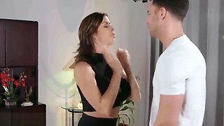 Son can't controll sex with his Horny mom Alexis fawx