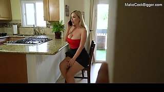 Blonde MILF with big ass and big natural tits fucked hard