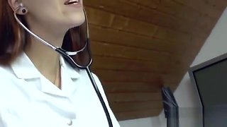 4554108 German Milf Nurse give sensual Handjob to young patient 720p