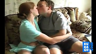 Redhead Girl stops his studies for sex and cum