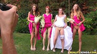 Bridesmaids & Bride Go Lesbian Dykes