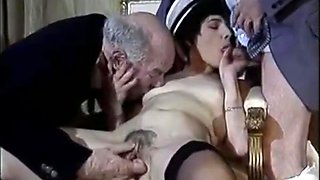 Old white guys share the maid.