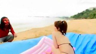 Hottest Japanese chick Mio Yamashiro, Mai Takakura, Rin Momoi in Best Bikini, Threesomes JAV scene