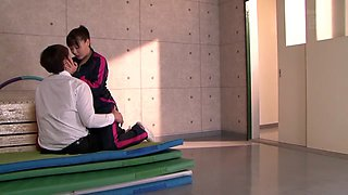 Horny Japanese model in Amazing Gym, HD JAV scene