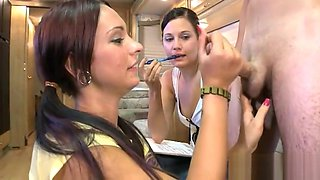 Cute teen is driving young stud crazy with irrumation