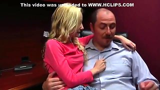 roleplay daughter sucks off Daddy at the office
