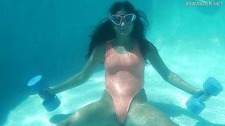 Wet Underwater Gymnastics with Micha