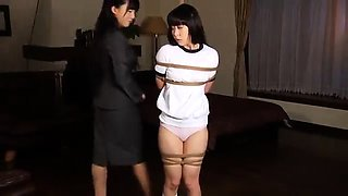 Kinky Japanese lesbians fulfill their bondage fetish fantasy