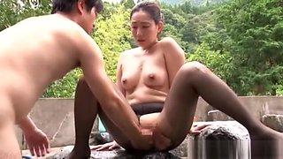 Mika Nanase hot Asian milf in outdoor rough fucking