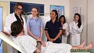 British nurses sucking and stroking