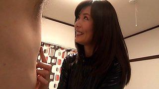 Crazy Japanese girl Eriko Miura in Horny fetish, latex JAV video