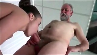 Hot young Anita fucked by dirty old man