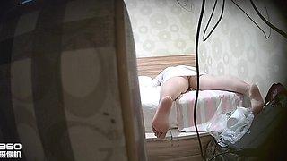Chinese Fat Cute Girl Masturbates Twice, Real Hacked Ip Cam