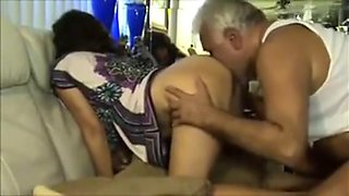 Older Boss Fucks & Licks Hairy Indian Coworker Ass