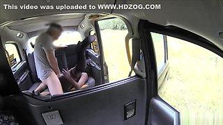 Ebony strip club dancer gets fucked hard in a taxi