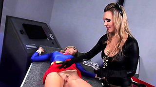 Bondage  roleplay with two super hot blondes