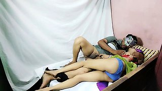 Indian Bhabhi Playing Young School Girl Role Play And