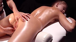Oiled up for a thorough check up