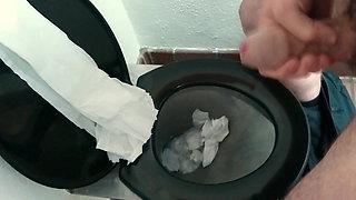 Dropping A Massive Cumshot Into Work Toilet - SlugsOfCumGuy