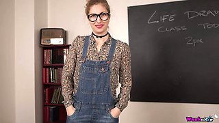 British chick Stephanie Bonham Carter gets naked and poses on the teachers table