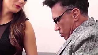 Mom and stepdaughter fix the school tutors hard dick