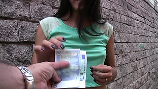 TeensLoveMoney - Spanish Waitress Fucked For Money