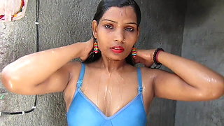 Hot And Sexy Bikini Girl PINKI Desi Savar taking a bath