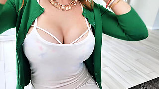 Redhead mom meets the young stud inside
