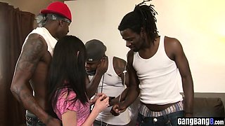 Naive European MILF fucked by a perverted black guys