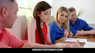 Abby Adams & Grae Stoke in Dads Divide The Daughter Swap Equation - DaughterSwap