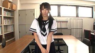 Yuuki naughty and nice Asian teen fucks in the classroom