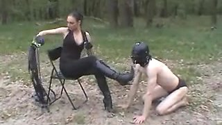 Outdoor Villein Training: Boots, Bondage & Whipping