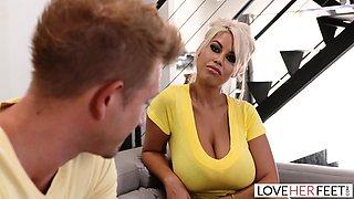 LoveHerFeet - Big Tits Milf Fucks Her Sister's Boyfriend