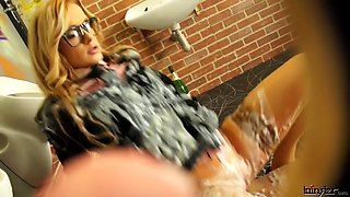 Blonde Lady Fucked In Toilet By A Drunk Guy