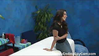 Our hidden spy cameras caught Allie the massage therapist
