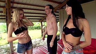 Hot girls wrestling man 5