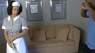 Jazmine cashmere hot black maid seduce black