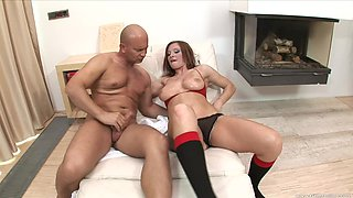 After dick eating Mischel Channson can't wait to jump on a hard penis